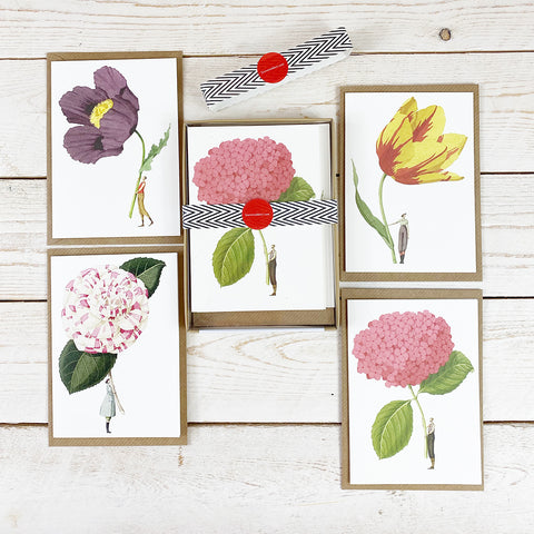Laura Stoddart In Bloom Notecard Set, Flowers.