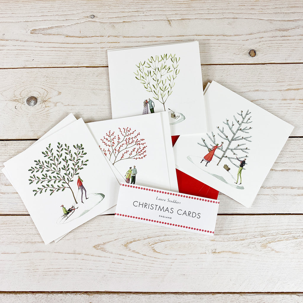 Laura Stoddart Christmas Scenes Cards 8 Pack.