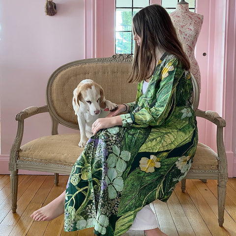 One Hundred Stars Lime Hydrangea Duster Coat.