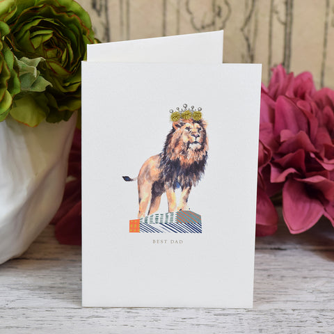 Elena Deshmukh Card, Best Dad. Lion King.
