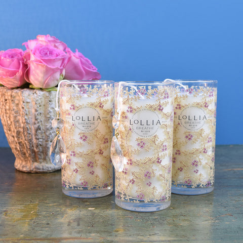 "Lollia ""BREATHE"" Candle."