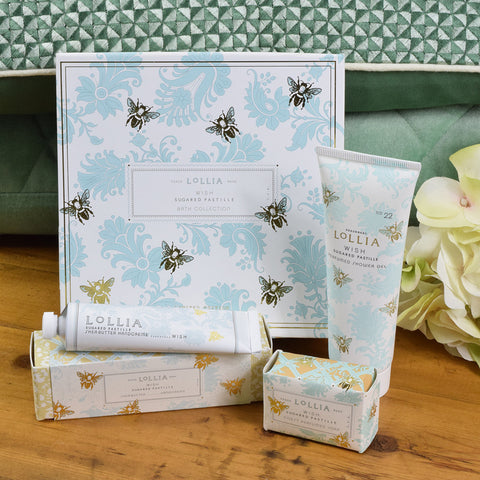 Lollia Wish bath and shower gift set
