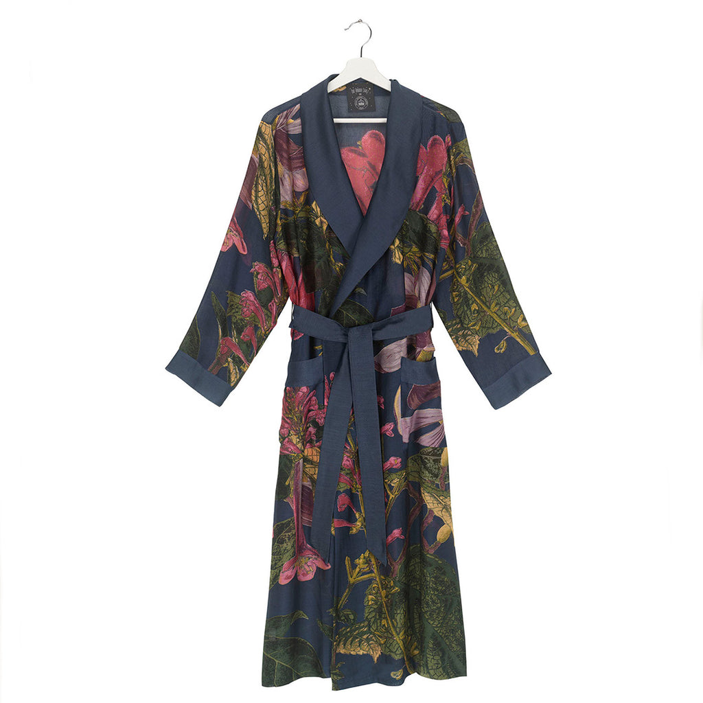 One Hundred Stars KEW Magnolia Blue Dressing Gown.