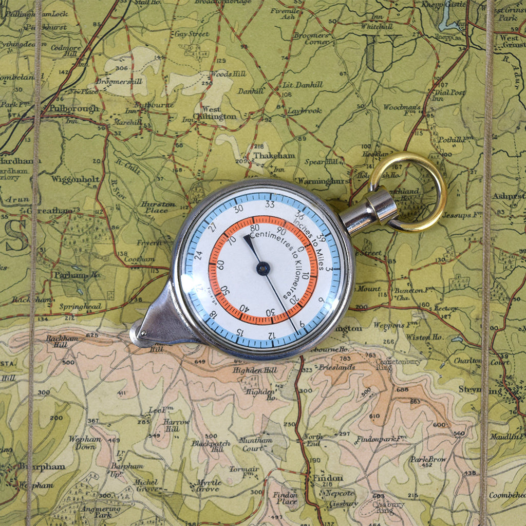 Vintage Map Mile Measurer