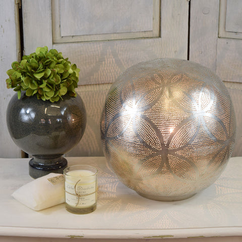 Zenza Globe Table Lamps. Patterned.