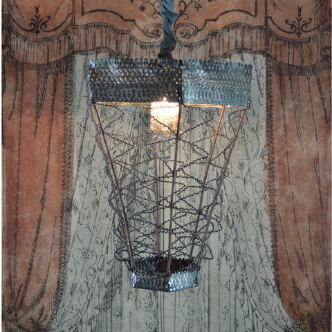 Merci Louis Vintage Metal Chandelier.