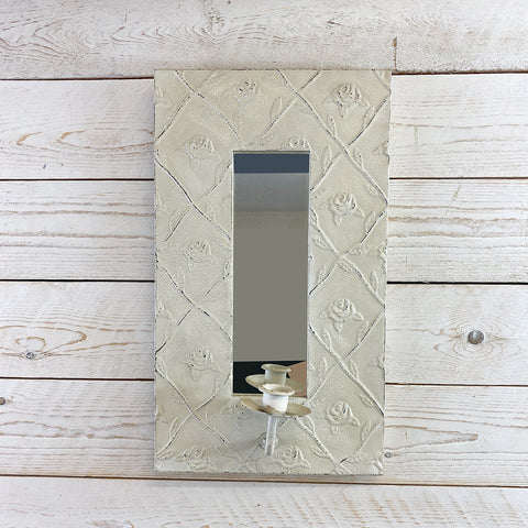 Decorative Vintage Style Candle Holder With Mirror