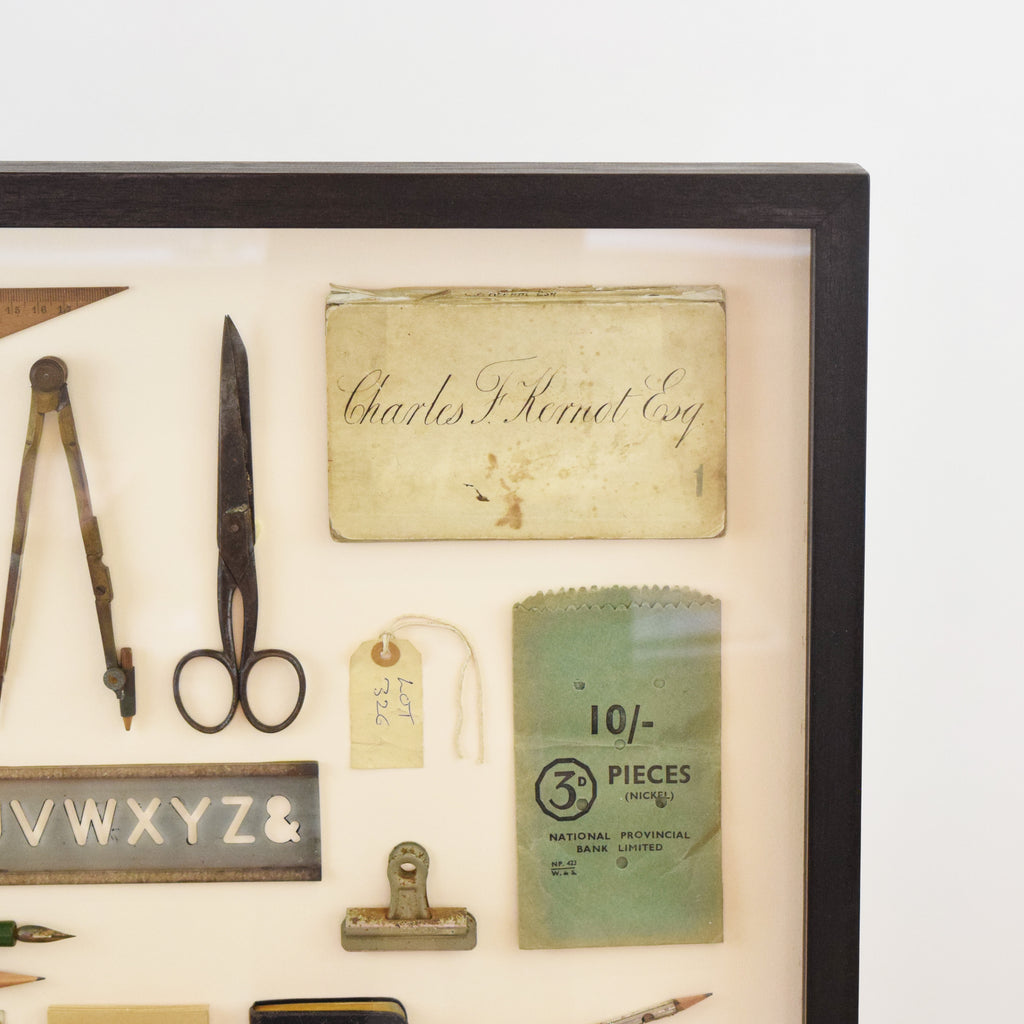 Mini Museum Framed Vintage Stationery. England.