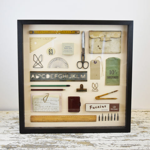 Mini Museum Framed Vintage Stationery - England
