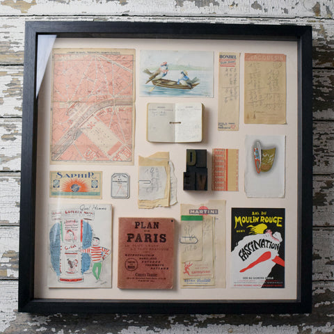 Mini Museum Framed Vintage Stationery. Paris.