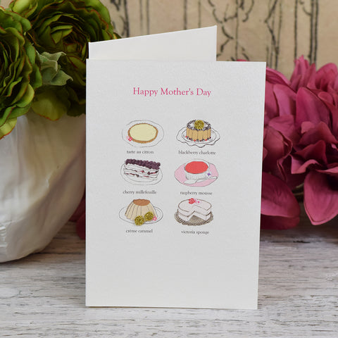Elena Deshmukh Card, Happy Mother's Day. Cake.