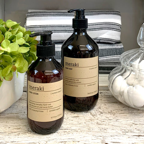 Meraki Northern Dawn Hand Lotion.