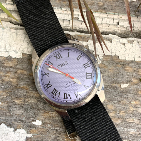 Vintage Oris Purple Face Watch.
