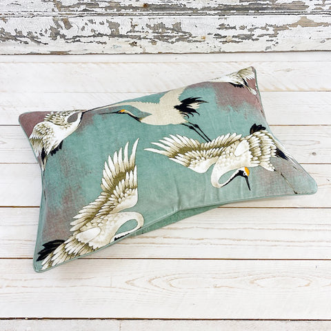 One Hundred Stars Stork Cushion. Aqua.