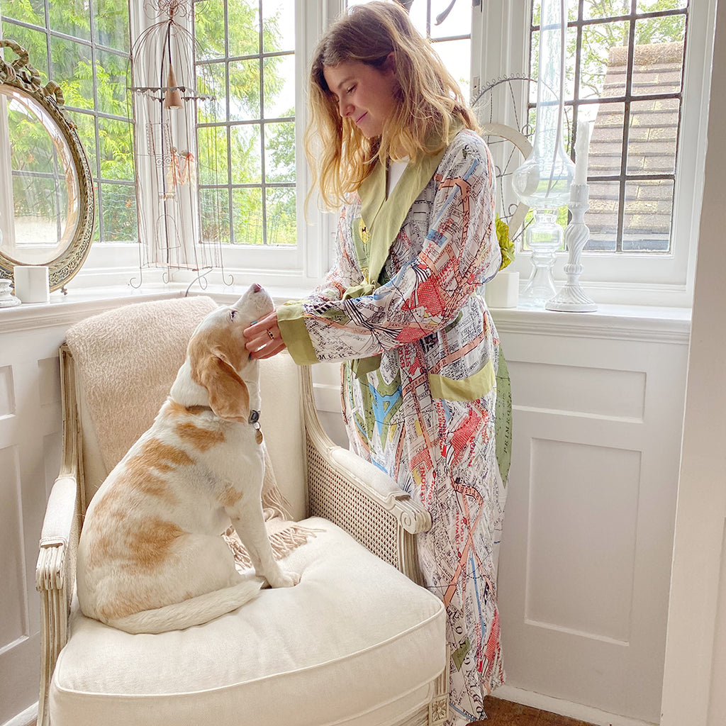 One Hundred Stars London Map Dressing Gown.