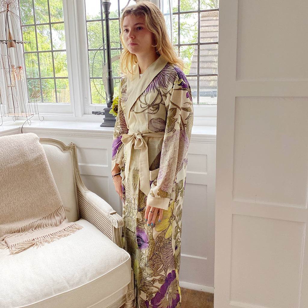 One Hundred Stars KEW Thistle Dressing Gown.