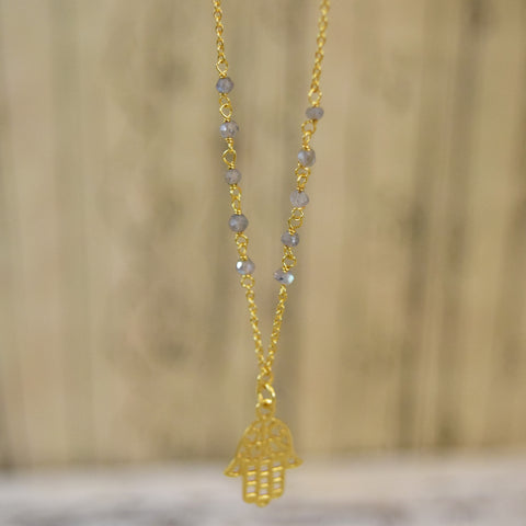 Gold Plated Silver Hmasa Necklace.