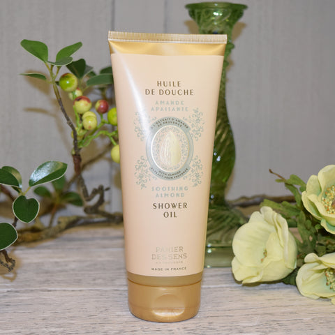 Panier des Sens Soothing Almond Shower Oil.