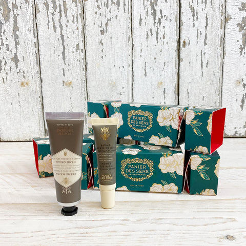 Panier des Sens Christmas Cracker, Honey Lip balm & Honey Hand Creme.