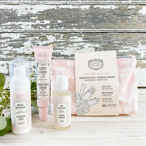 Panier des Sens Face Care Gift/Travel Set. Radiant Peony.