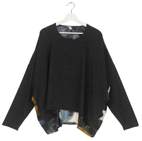 One Hundred Stars Pansy Charcoal Oversize Jumper.