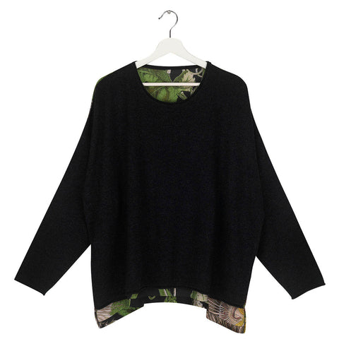 One Hundred Stars Passion Flower Black Oversize Jumper.