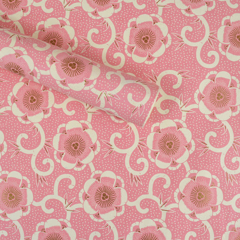 Wrapping Paper. Pink Flowers.