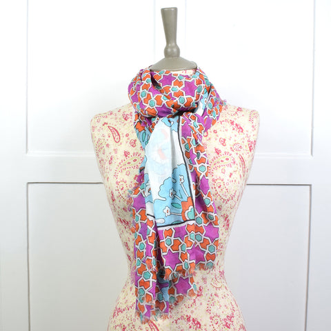 One Hundred Stars Flower Scarf