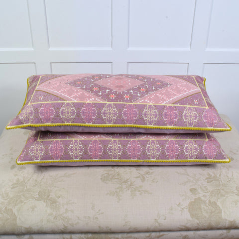 Boheme mauve rectangular cushion