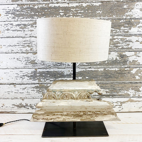 Quirky Vintage Wood Table Lamp