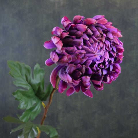 Silk-Ka Faux Flowers: Purple Dahlia Stem