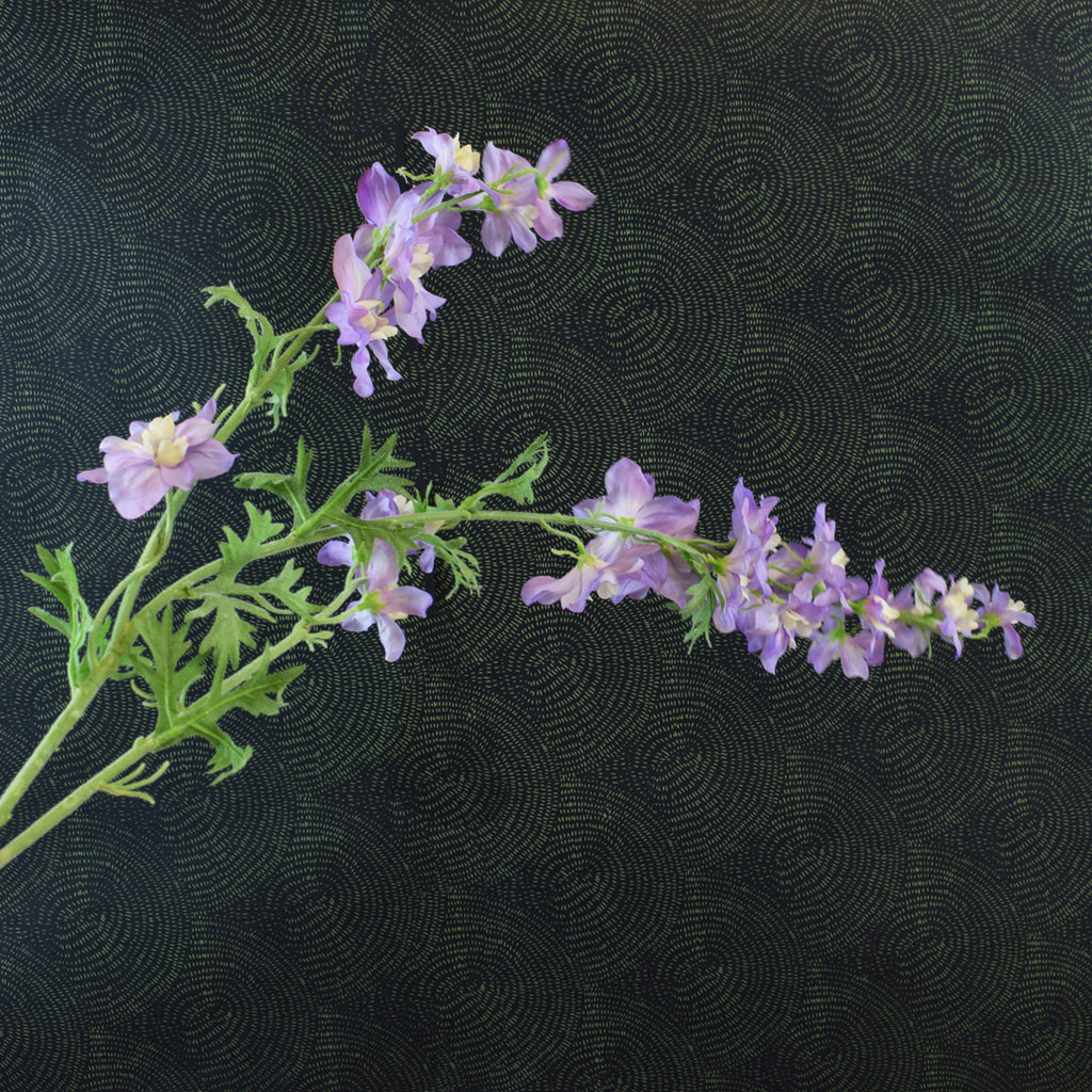 Silk-Ka Faux Flowers: Purple Delphinium Stem