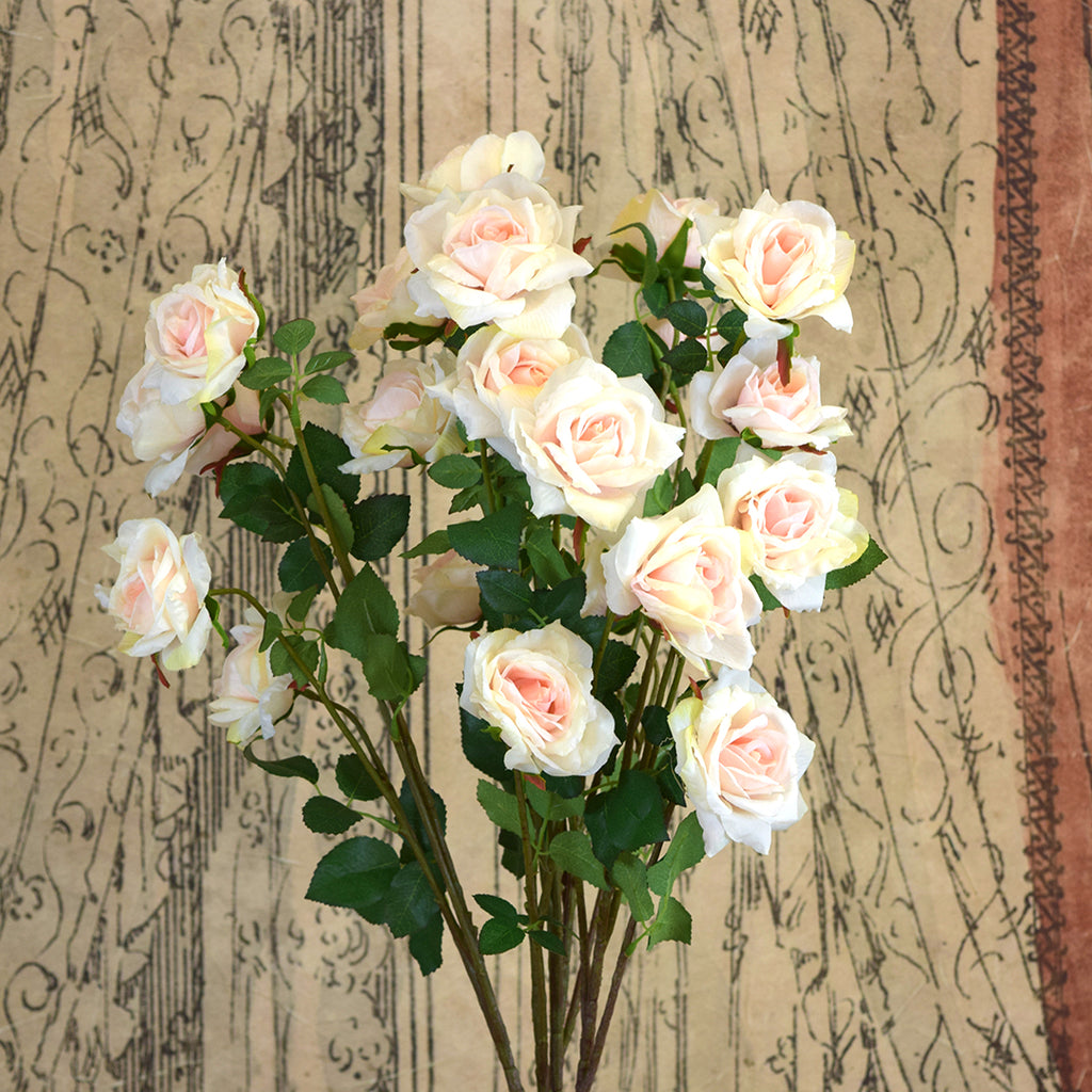 Silk Ka Faux Flowers Pale Pink Rose Stem Curated Living