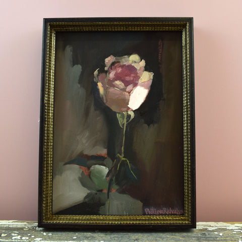 Philippa Richardson 'Single Rose' Painting.