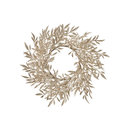 Gold Leaf Wreath Small
