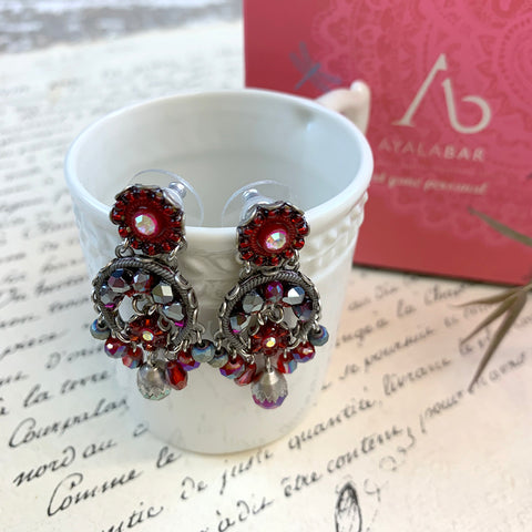 Ayala Bar Ruby Red Earrings.