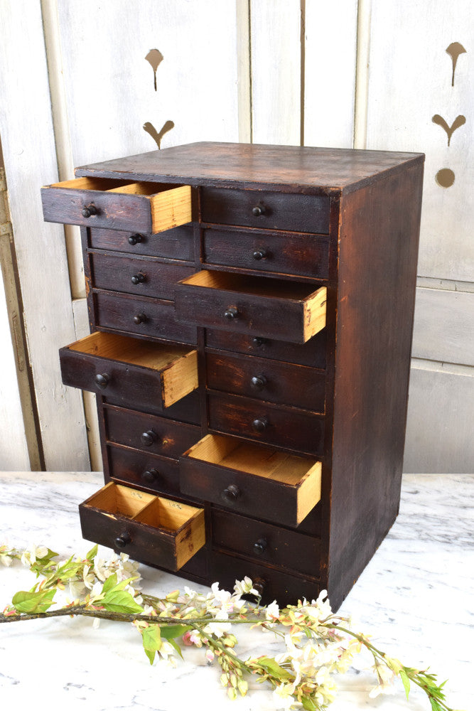 Wooden Stained Drawers.