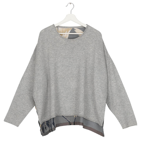 One Hundred Stars Stork Slate Oversize Jumper.