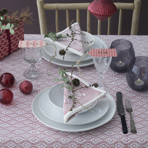 Lulu Pink Table Cloth. Medium.