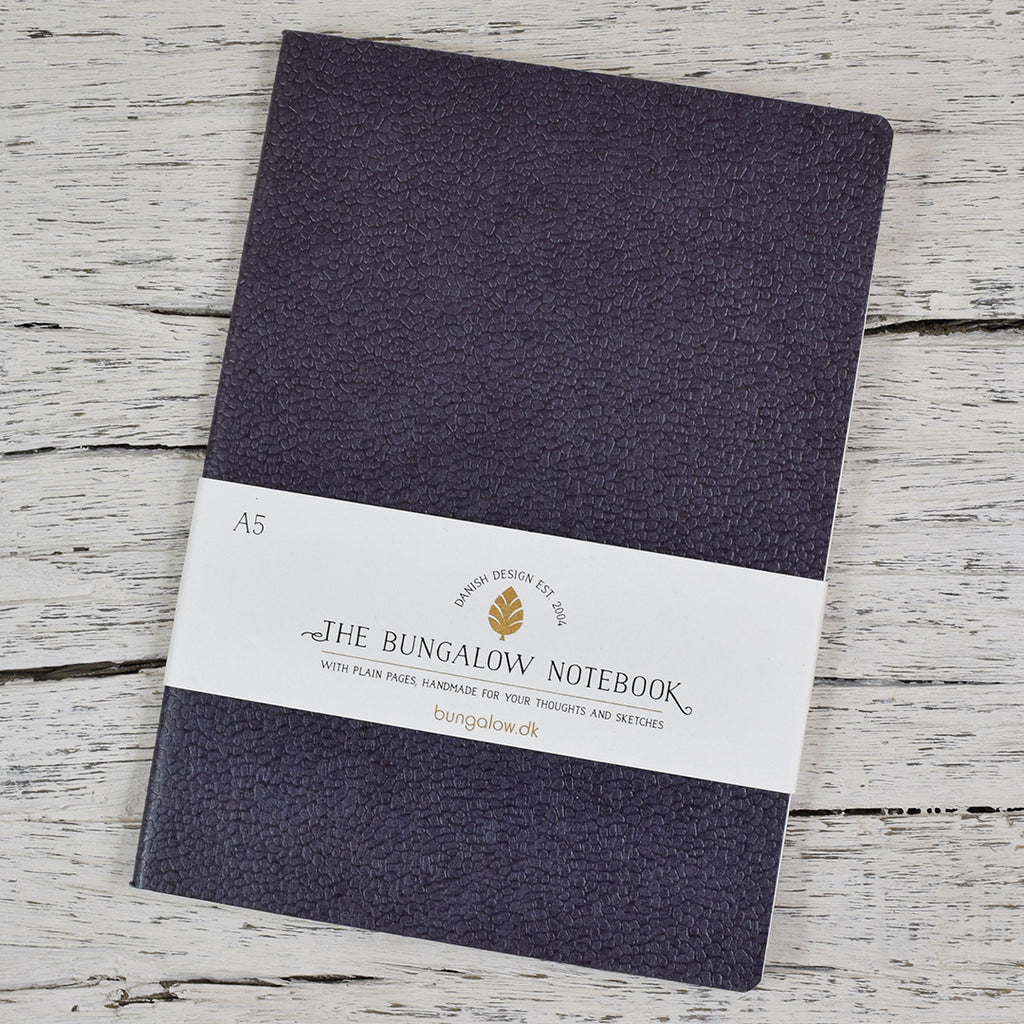The Bungalow A5 Notebook. Slate Grey.