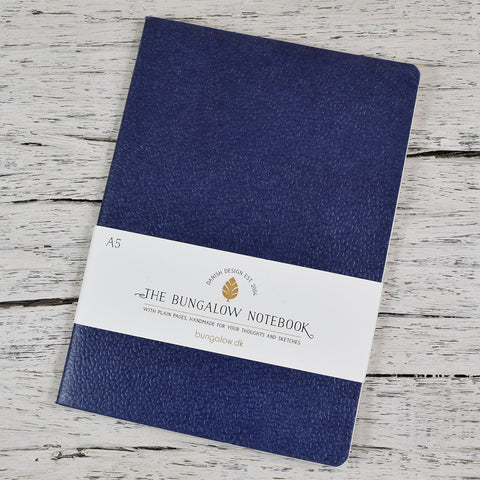 The Bungalow A5 Notebook. Navy.