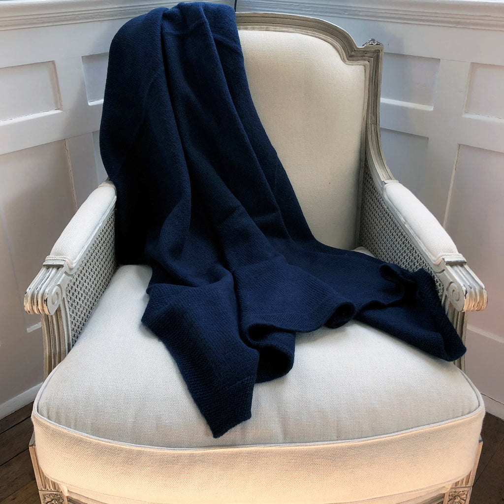 Black Luxurious Wool Throw.