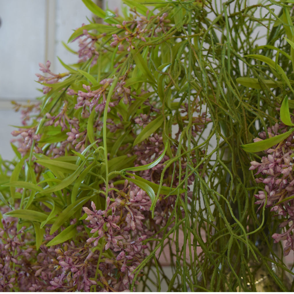 Abigail Ahern Flowers: Faux Trailing Lilac & Trailing Horsetail.