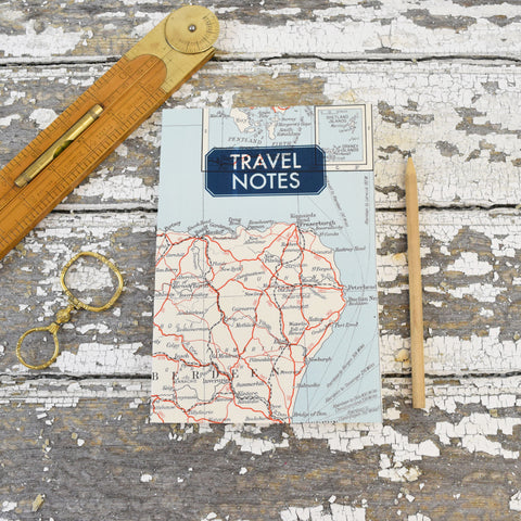 Vintage Map Notepads. Shetland Islands