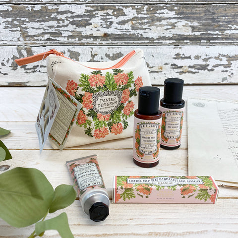 Panier des Sens Absolute Rose Geranium Gift/Travel Set.