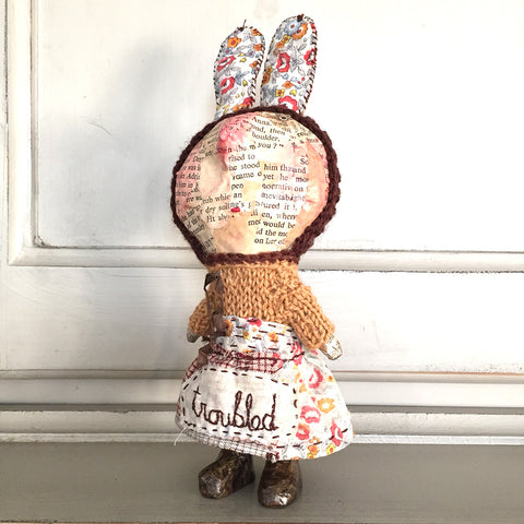 Julie Arkell Troubled handmade rabbit toy