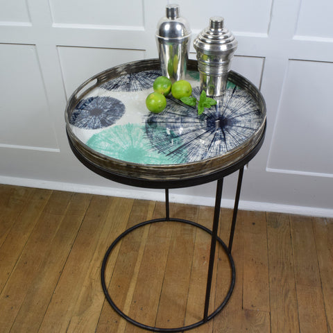 Notre Monde Umbrellas Glass Tray & Table.