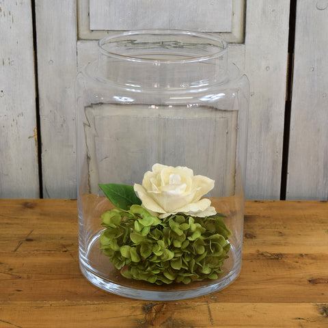 Rasteli Large Barrel Clear Glass Vase