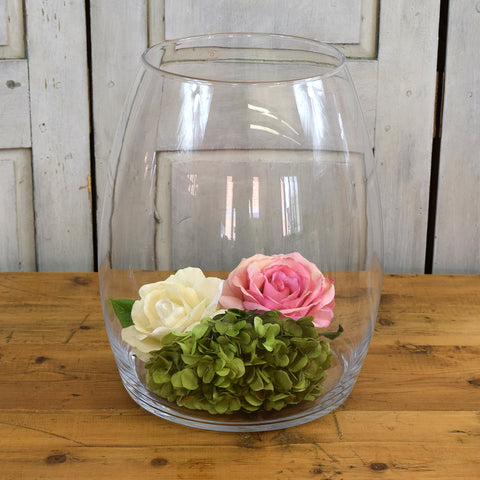 Rasteli Large Clear Glass Vase.