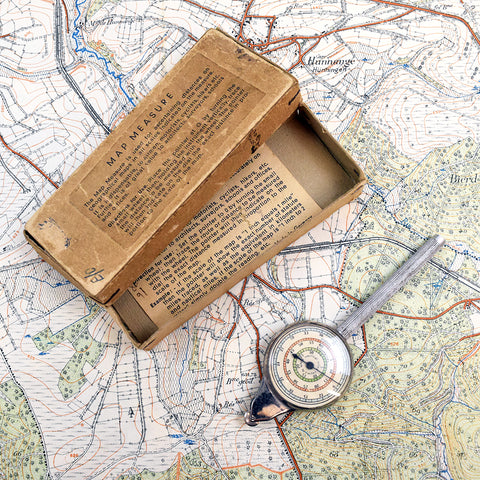 Vintage Map Mile Measurer. Boxed.